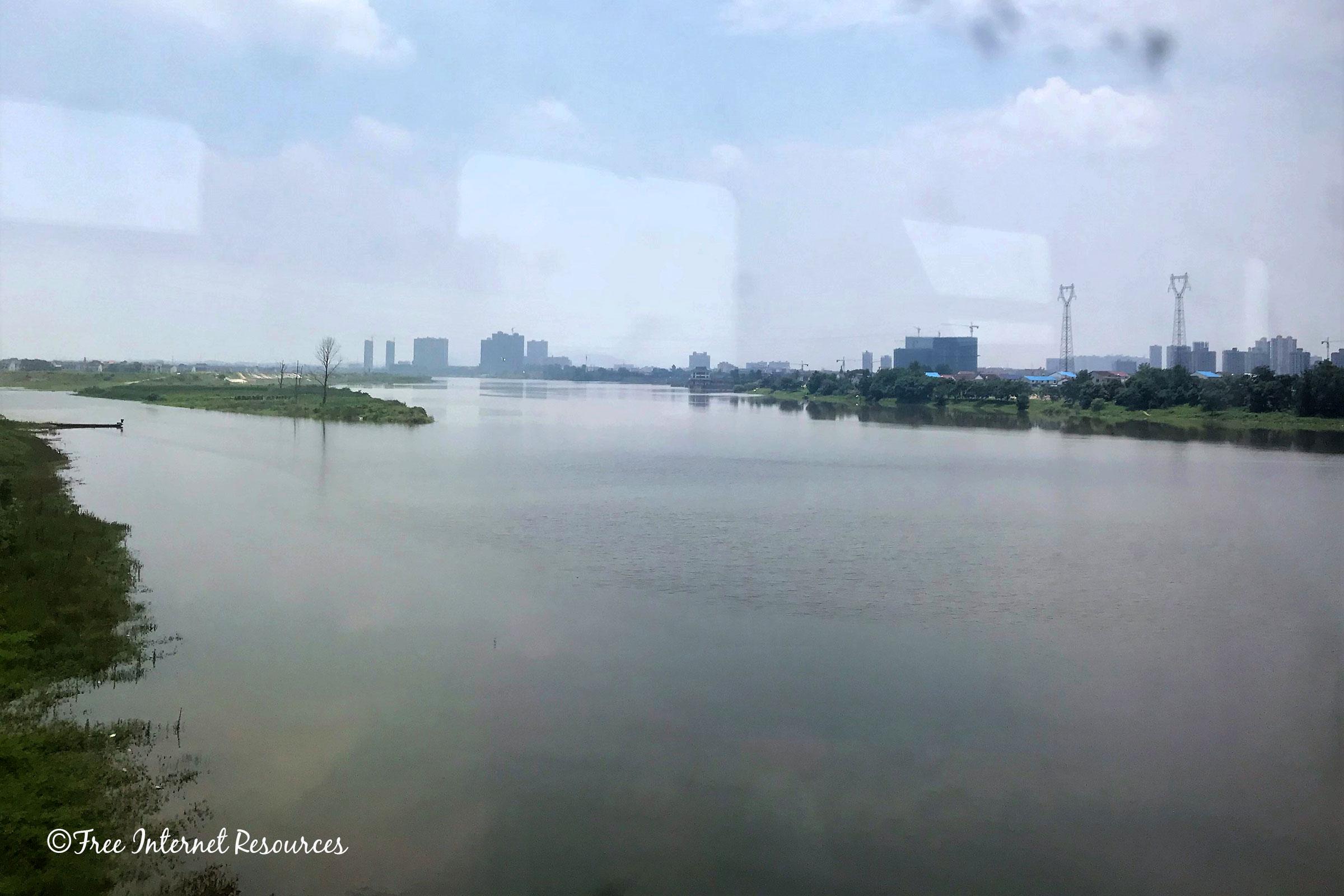 Xiangjiang river in Hunan, China