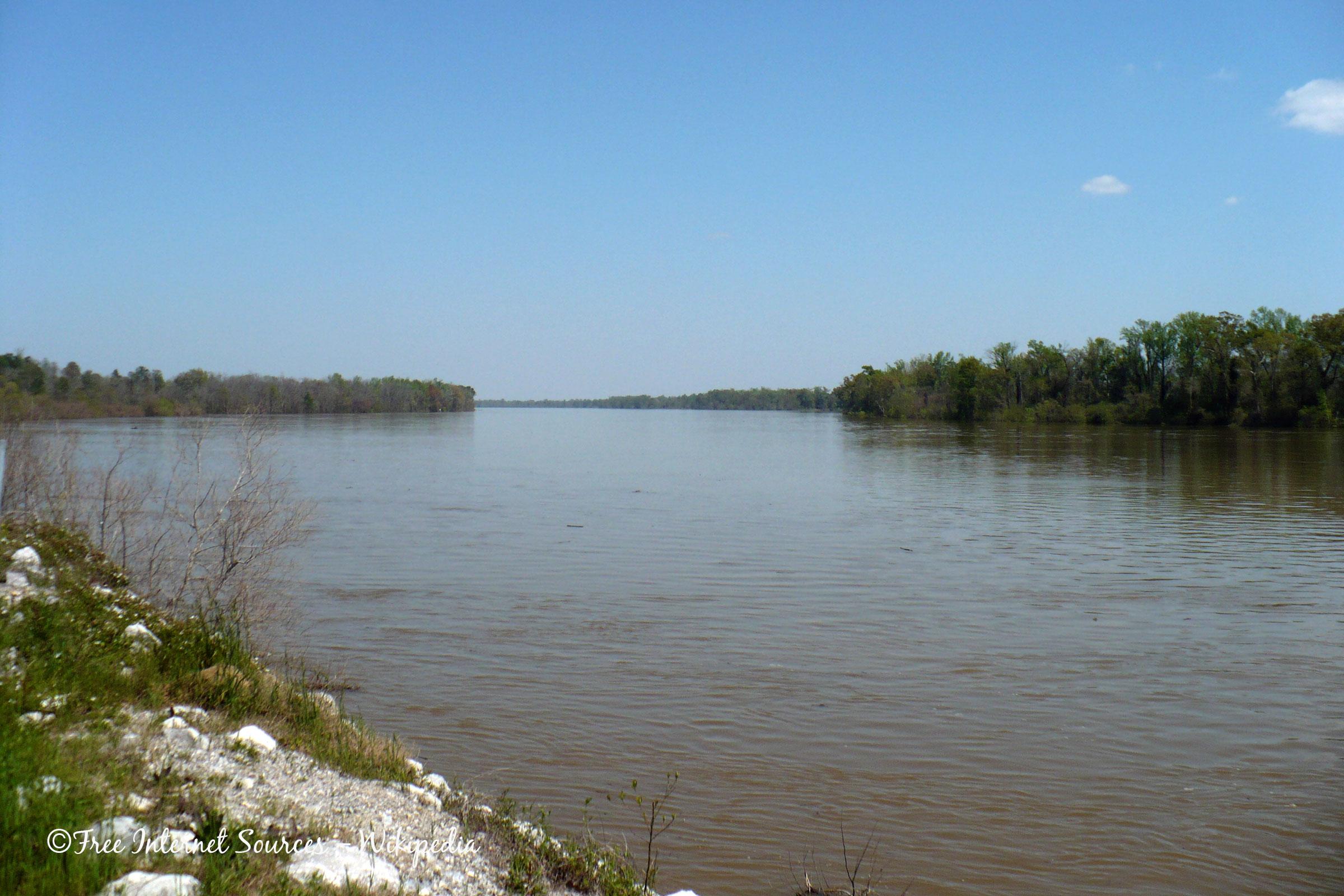 Mobile River, Alabama, USA.