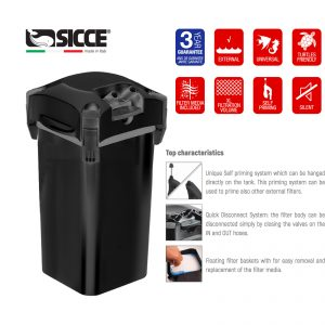 Sicce WHALE 500 Canister filter