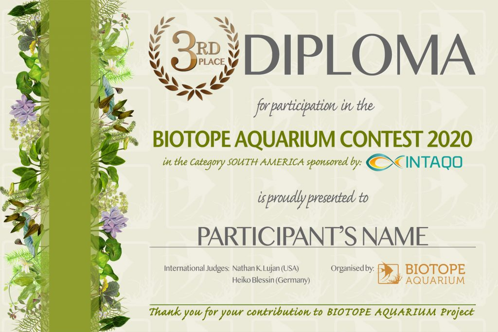 DIPLOMA BIOTOPE 3 place
