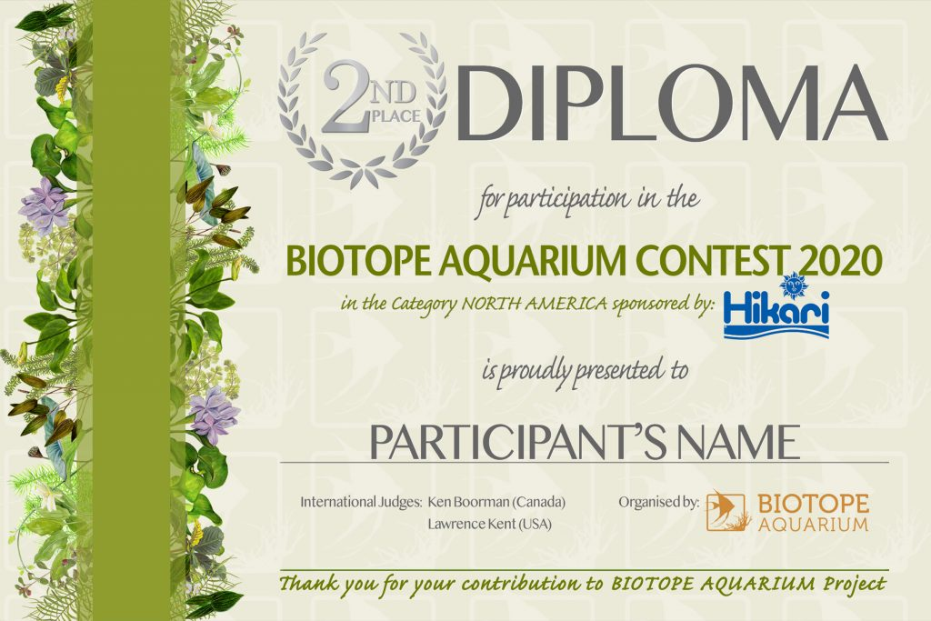 DIPLOMA BIOTOPE 2 place