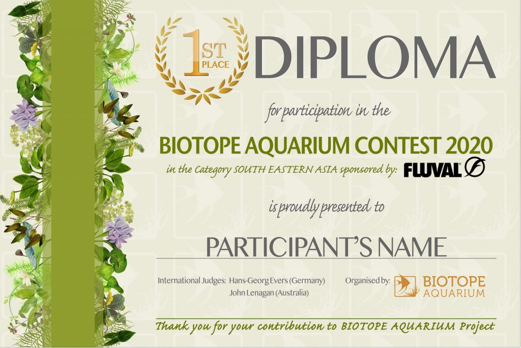 DIPLOMA BIOTOPE 1 place