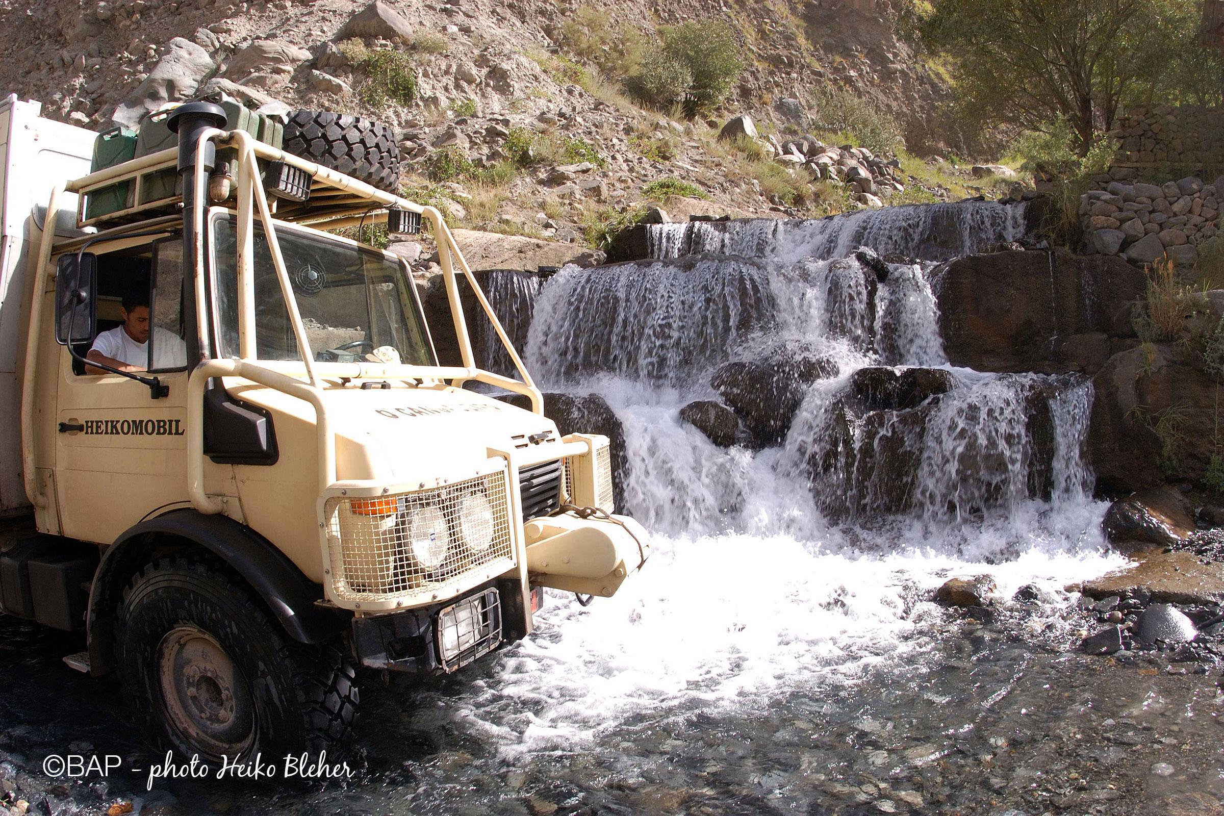 The Heikomobile along the Panjii River, Pamirs, Tajikistan. ©BAP, photo H. Bleher