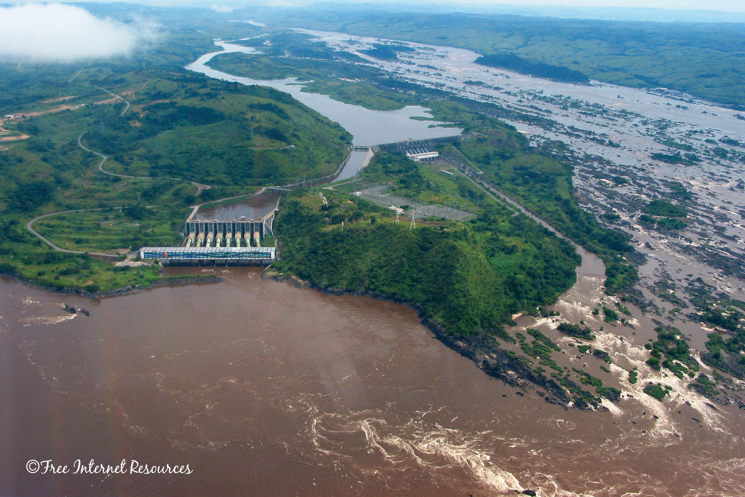 Small creek, Congo River affluent, DRC. Free Internet Sources