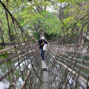 A bridge over the Titzii river, Nagaland. Photo by Natasha Khard